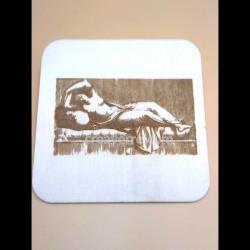 Plaque bois carrée 13 cm,...