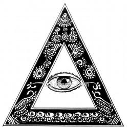 Le delta, symbole d'équilibre, l'oeil qui voit tout, et regarde avec amour le résultat de sa création