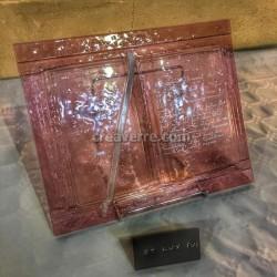 Sculpture en forme de livre ouvert, en verre artistique fusionné 35 cm